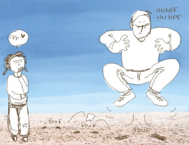 empreintes sur le sable