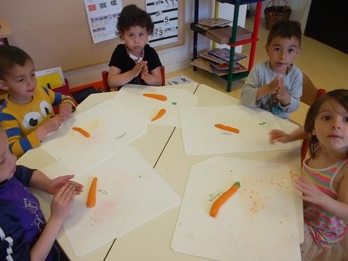 Nos carottes en pâte à sel