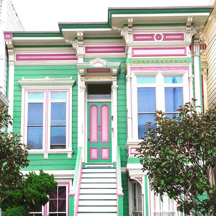 Les-maisons-en-couleurs-de-San-Francisco-2 Les maisons en couleurs de San Francisco
