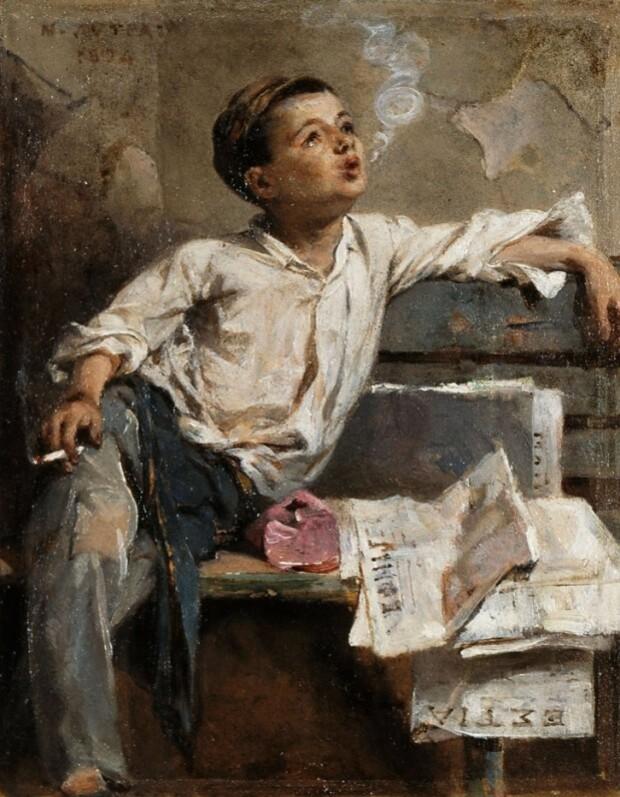 nikiforos-lytras-Enfant-qui-fume-1894.jpg
