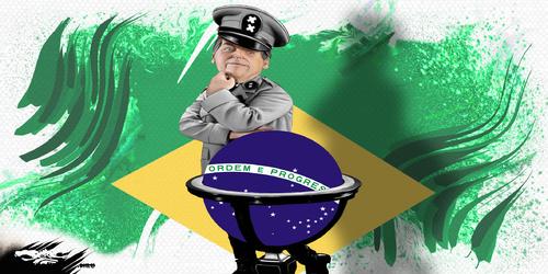 dessin de JERC et AKAKU du jeudi 11 octobre 2018 caricature Jair Bolsonaro Bras (zil) tendu : les extrêmes vont Jaïr ! www.facebook.com/jercdessin @dessingraffjerc