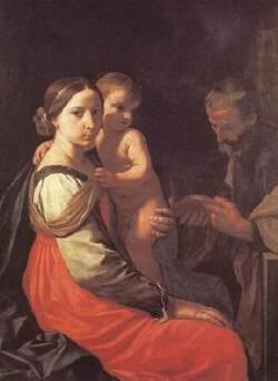 Cantarini Simone, la Sainte Famille