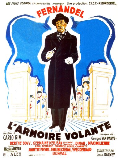 L' ARMOIRE VOLANTE - BOX OFFICE FERNANDEL 1948