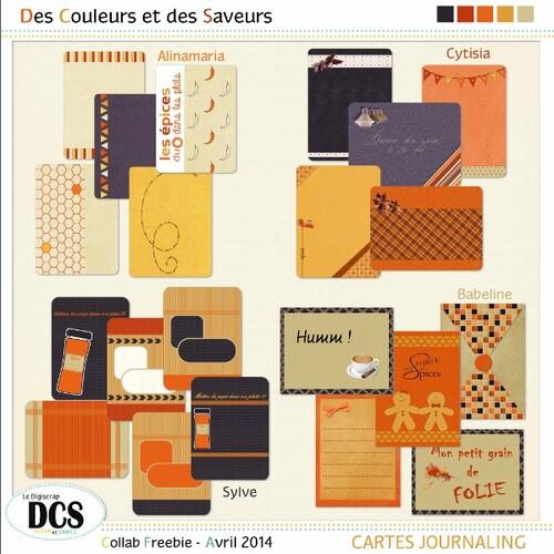 """DCS: Cartes journaling """" DES COULEURS ET DES SAVEURS"""""""