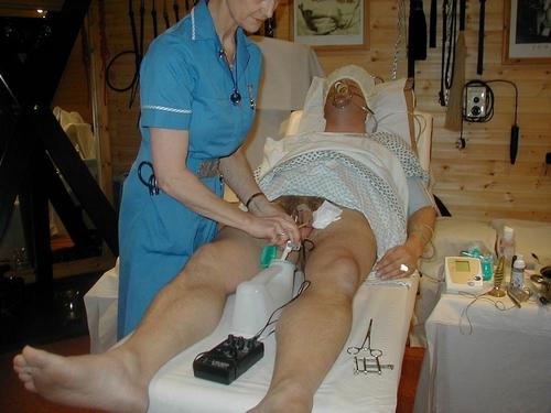 Electrostimulation, vidange, injection