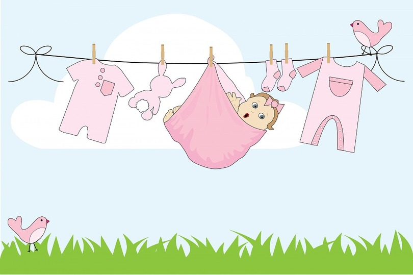 Bébé, Jeune Fille, Bébé Fille, Rose, Mignon, Vêtements