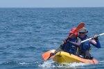 Lundi 25 juillet - étape finale : kayak + natation sur un parcours Fnideq / Cabo Negro