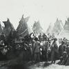 L ' évêque Henry B. Whipple prêche au Dakota à Ft. En train de gonfler, 1863.