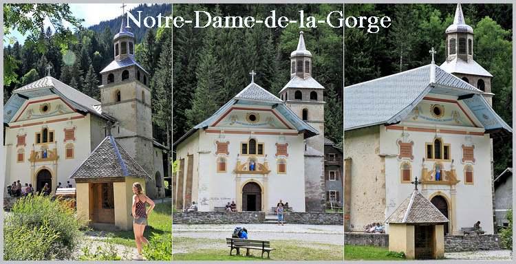 L'église de Notre-Dame-de-la-Gorge aux Contamines (Haute-Savoie)