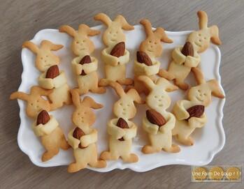 Sablés lapins de Pâques aux amandes