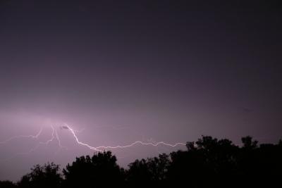 on a dérouillé hioer soir, les orages ont été violents et la pluie également