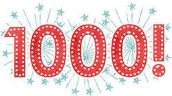 1000 VISITEURS !!!
