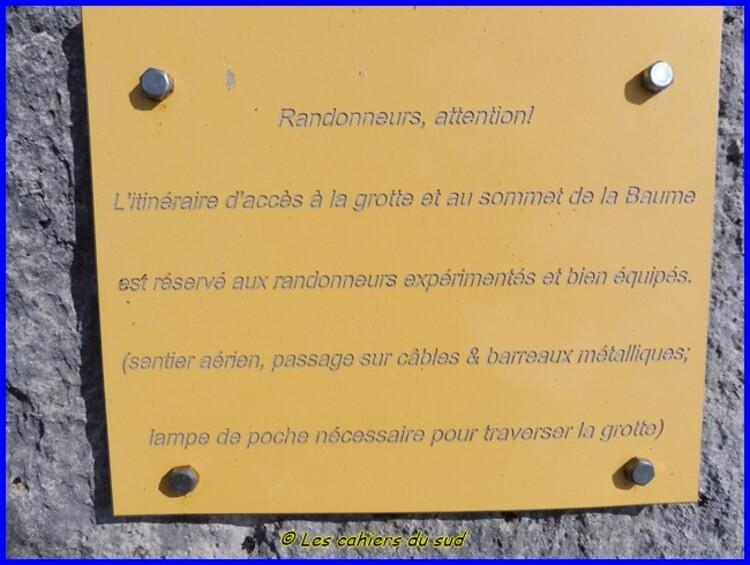 Sisteron, la Baume du trou d'argent