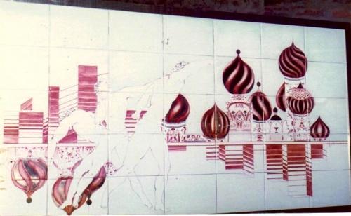 Les étapes de la création du panneau en porcelaine