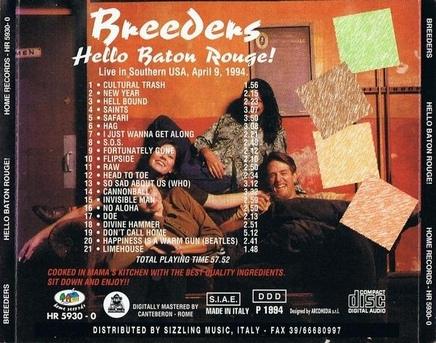 Le choix des lecteurs (9) : The Breeders - Hello Baton Rouge!