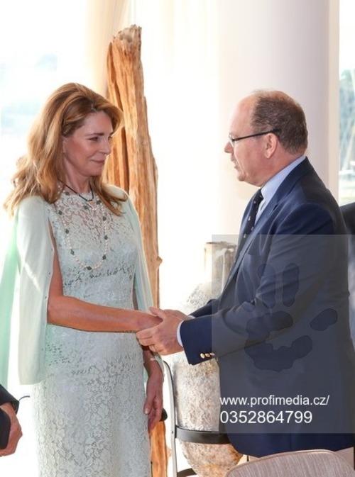 Noor de Jordanie - Albert de Monaco et C.P.de Suède à Monaco