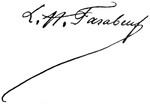 Signature de Louis Hubert Farabeuf