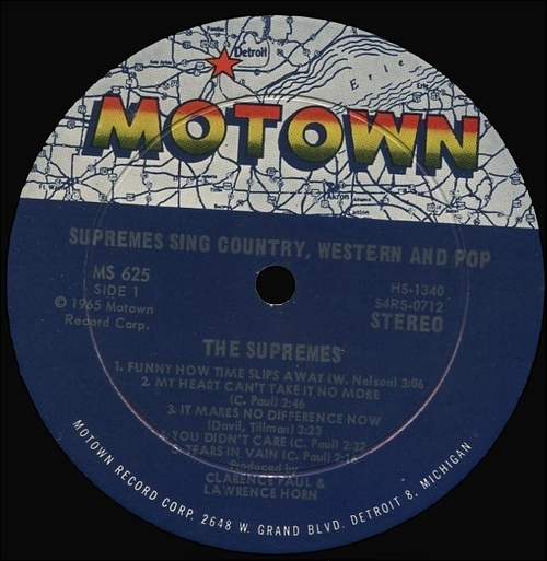 "The Supremes : Album "" The Supremes Sing Country Western & Pop "" Motown Records MS 625 [ US ]"