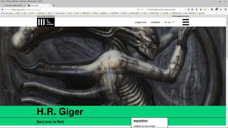 """Rétrospective du PAPA DE LA """"BËTE"""" au Lieu Unique à Naoned...P.Gyger invite H.R. Giger ..."""