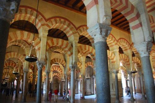 L'intérieur de la mosquée