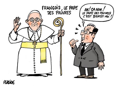 Placide - Un pape François peut en cacher un autre - 14 Mars 2013 - Les  dossiers de Placide - dessins de presse - chaque jour un dessin d'actualité  sarkozy chirac busch