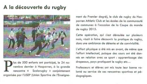Rencontres scolarugby - Article Berrixka