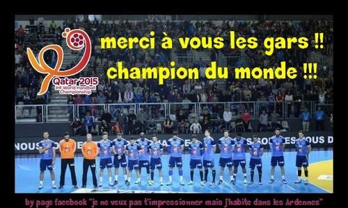 Handball : la France championne du monde