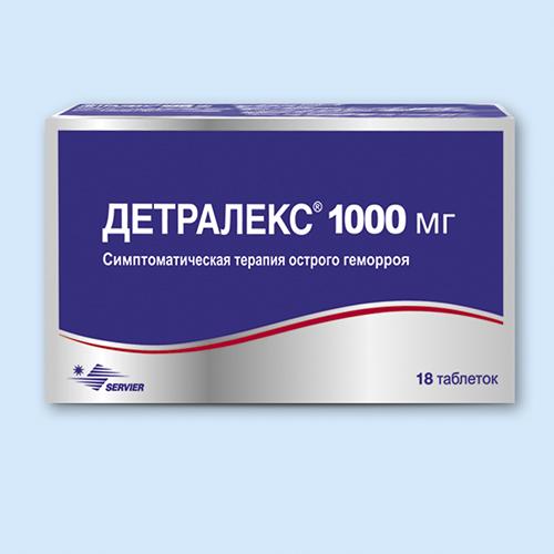 Лечение геморроя детралексом схема дозировка