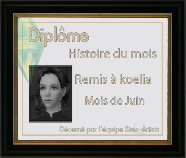 Histoire du mois sur Sims Artist