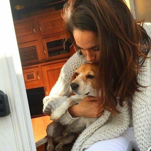 Meghan et son chien....