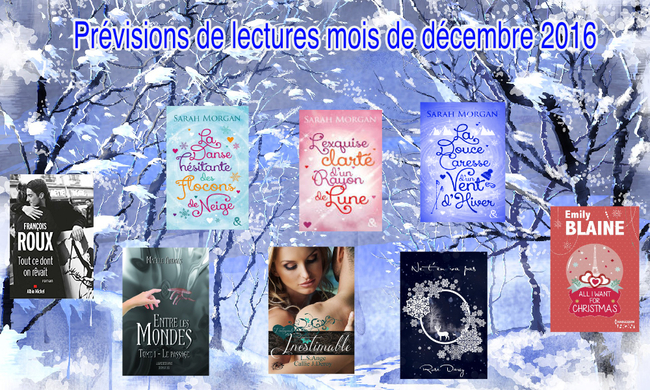 Prévisions de lectures mois de décembre 2016