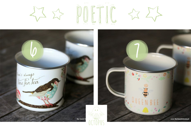 Mugs mignons poétique retro bird bee Ma sweet Boutique Magic Octopus BLOG