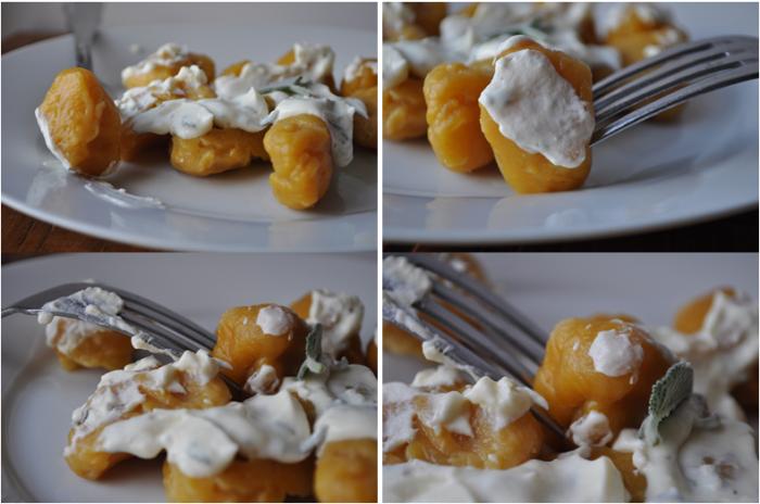 Gnocchis de potiron et sa crème à la sauge