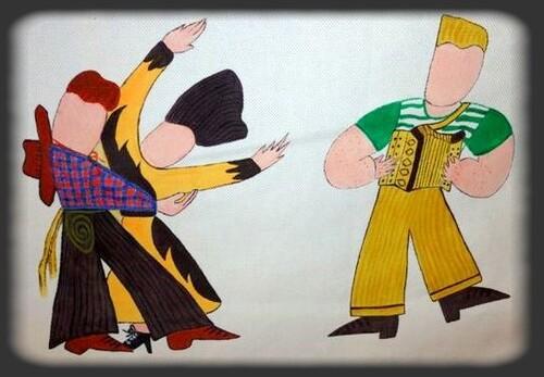 """""""Entrez dans la danse""""une de mes peintures sur tissu-coton"""