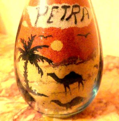 Les bouteilles de Petra.....