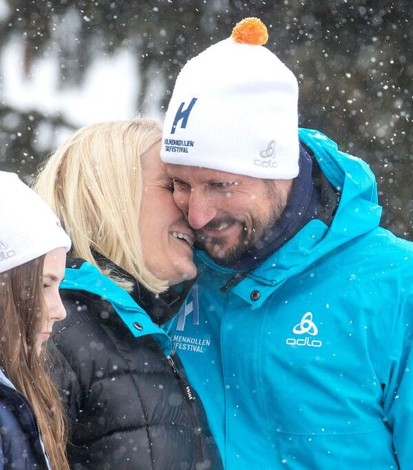 Haakon,   Mette de Norvège et leurs enfants