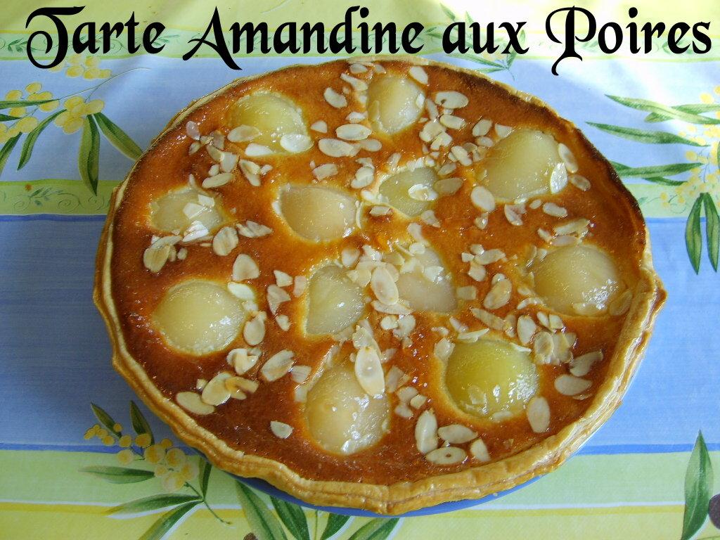 Tarte Amandine Aux Poires Ghislaine Cuisine