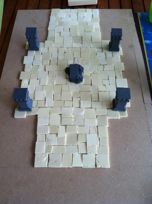 Les mines de la moria: création d'un plateau pour le seigneur des anneaux