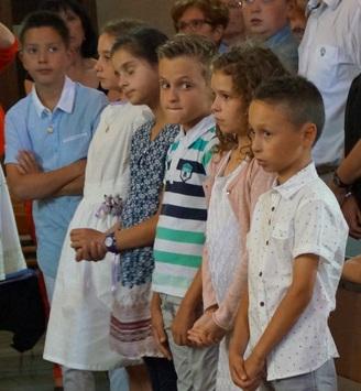 la première communion à Huriel