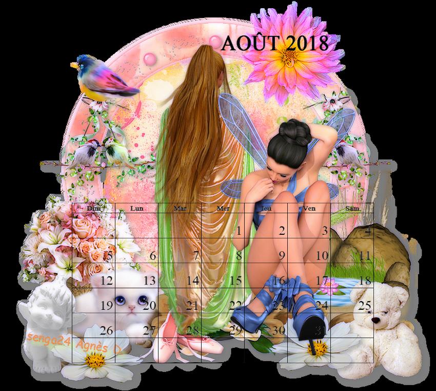 CREA(S) D'AOÛT 2018 (calendrier)