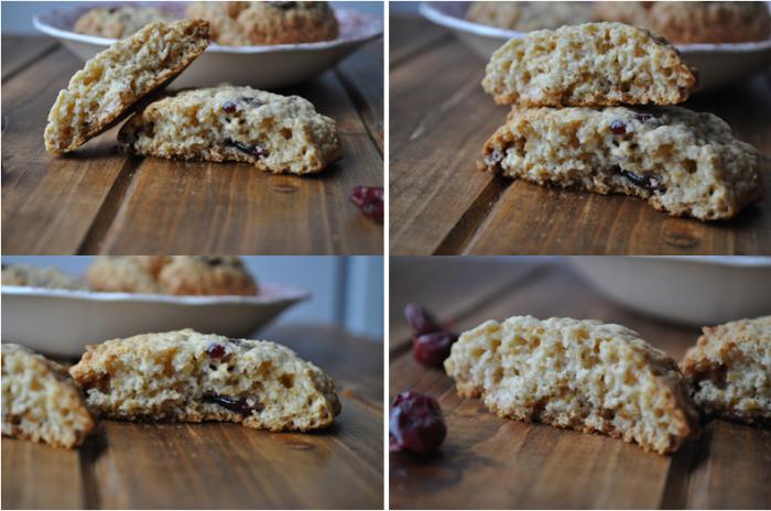 Cookies du matin, aux cranberries et aux flocons d'avoine