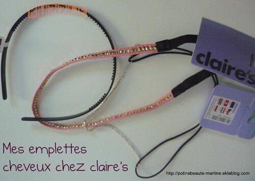 Headband et serre-tête Claire's : du rose, du bijou et de la panthère / Mon addiction à Ruzzle
