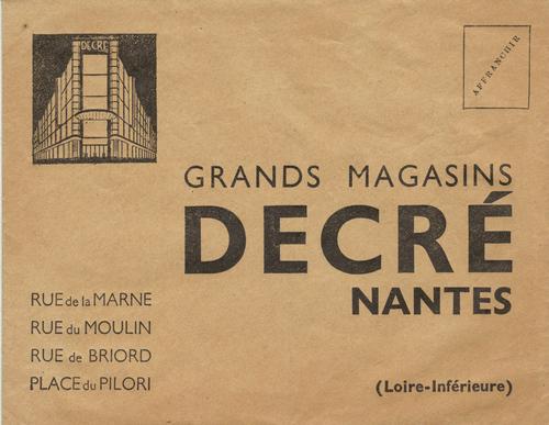 Enveloppe commerciale Decré - Decré commercial envelope