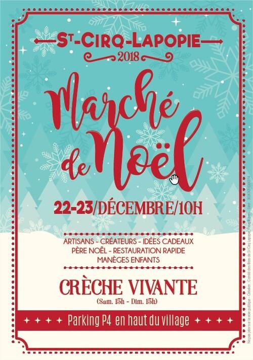 22  23  Décembre 2018  Marché de Noël ST CIRQ LAPOPIE
