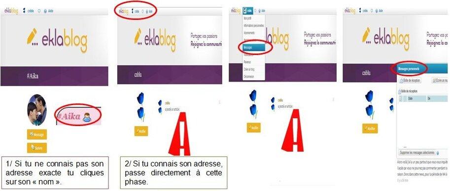 Comment envoyer un MP avec eklablog