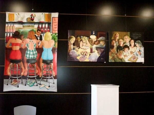 Lundi - Images d'expo : Les huiles (2) Les tableaux d'avant