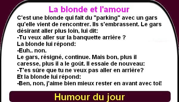 Un peu d'humour avec les meilleures des blondes.