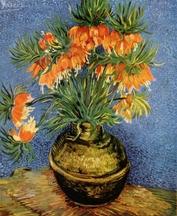 """Résultat de recherche d'images pour """"Fritillaires dans un vase en cuivre"""""""