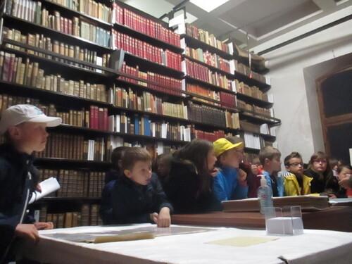 visite de la bibliothèque d'études.