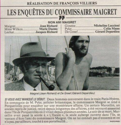 Bientôt Gérard Depardieu dans le rôle de Maigret